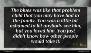 B.B. King quote : The blues was like ...