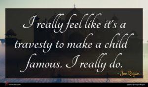 Joe Rogan quote : I really feel like ...