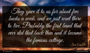 Jim Capaldi quote : They gave it to ...