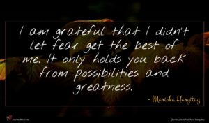 Mariska Hargitay quote : I am grateful that ...