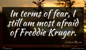 Andrew Mason quote : In terms of fear ...