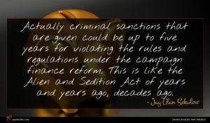 Jay Alan Sekulow quote : Actually criminal sanctions that ...