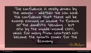 Sri Mulyani quote : The confidence is really ...