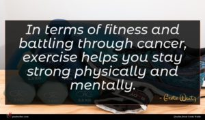 Grete Waitz quote : In terms of fitness ...