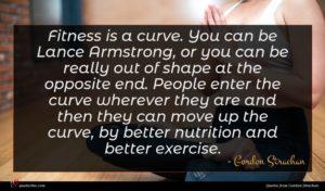 Gordon Strachan quote : Fitness is a curve ...