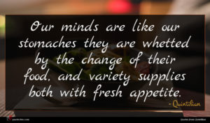 Quintilian quote : Our minds are like ...