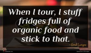 Avril Lavigne quote : When I tour I ...