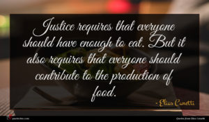 Elias Canetti quote : Justice requires that everyone ...
