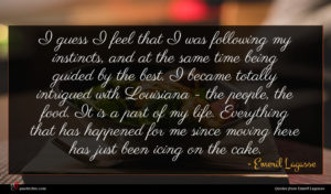 Emeril Lagasse quote : I guess I feel ...