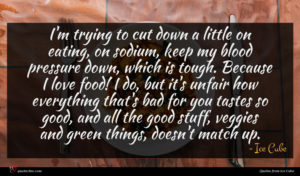 Ice Cube quote : I'm trying to cut ...