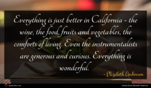 Elizabeth Anderson quote : Everything is just better ...