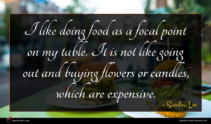 Sandra Lee quote : I like doing food ...