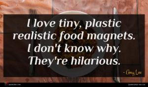 Amy Lee quote : I love tiny plastic ...