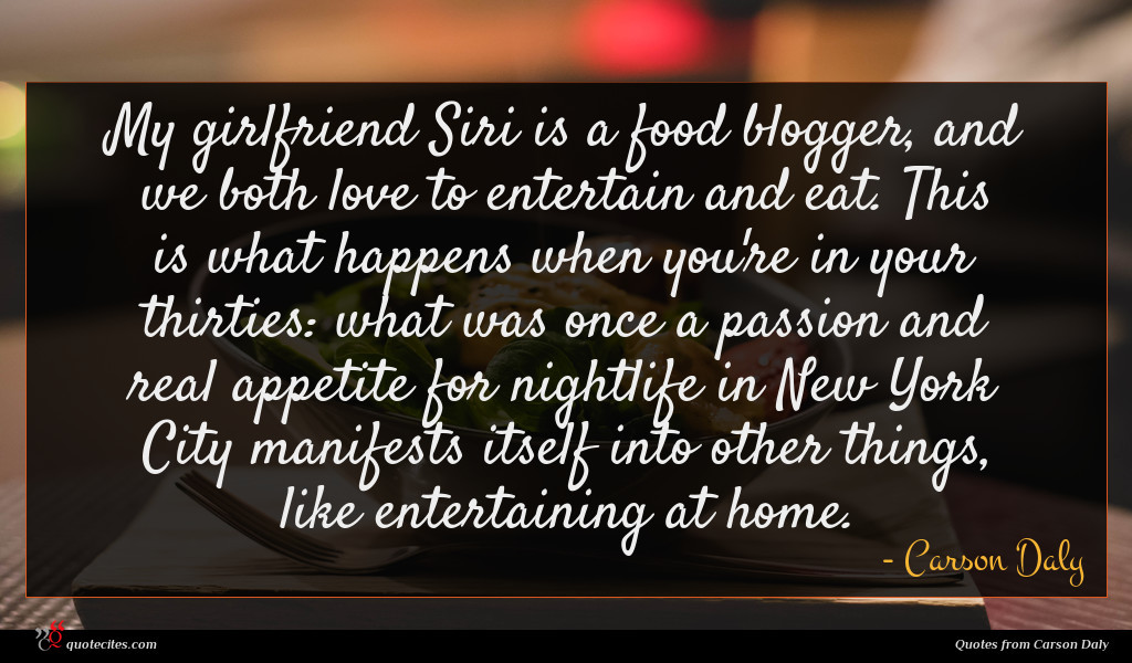 My girlfriend Siri is a food blogger, and we both love to entertain and eat. This is what happens when you're in your thirties: what was once a passion and real appetite for nightlife in New York City manifests itself into other things, like entertaining at home.