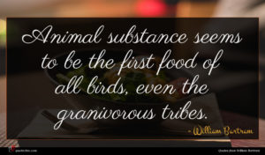 William Bartram quote : Animal substance seems to ...