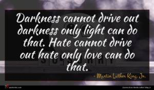 Martin Luther King, Jr. quote : Darkness cannot drive out ...