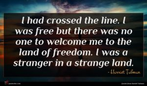Harriet Tubman quote : I had crossed the ...