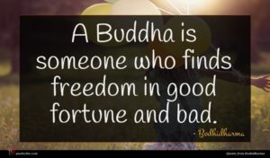 Bodhidharma quote : A Buddha is someone ...