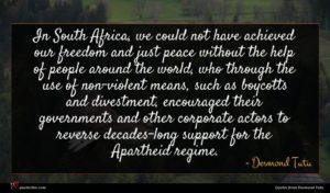 Desmond Tutu quote : In South Africa we ...