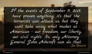 Jon Stewart quote : If the events of ...