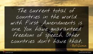 Neil Gaiman quote : The current total of ...