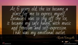 Kristi Yamaguchi quote : At years old the ...