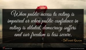 DeForest Soaries quote : When public access to ...