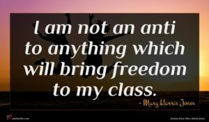 Mary Harris Jones quote : I am not an ...
