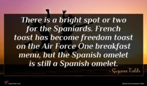 Suzanne Fields quote : There is a bright ...