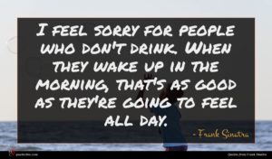 Frank Sinatra quote : I feel sorry for ...