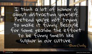 Sloane Crosley quote : I think a lot ...
