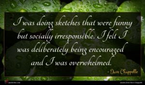 Dave Chappelle quote : I was doing sketches ...