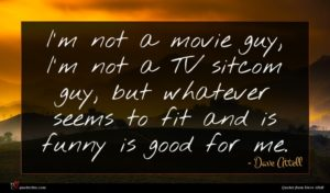 Dave Attell quote : I'm not a movie ...