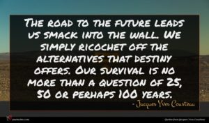 Jacques Yves Cousteau quote : The road to the ...
