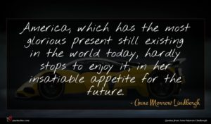Anne Morrow Lindbergh quote : America which has the ...