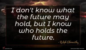 Ralph Abernathy quote : I don't know what ...