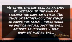 David Duchovny quote : My entire life has ...