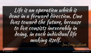 Jose Ortega y Gasset quote : Life is an operation ...
