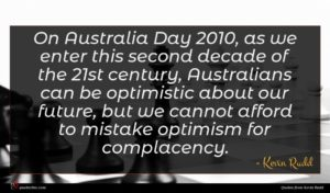 Kevin Rudd quote : On Australia Day as ...
