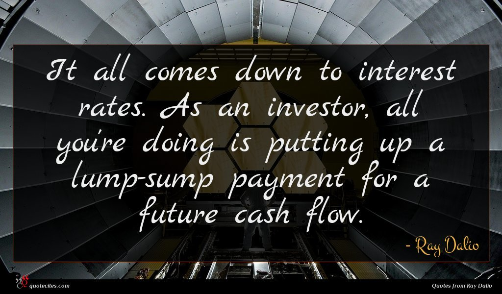 It all comes down to interest rates. As an investor, all you're doing is putting up a lump-sump payment for a future cash flow.