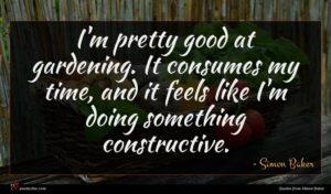 Simon Baker quote : I'm pretty good at ...