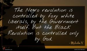 Malcolm X quote : The Negro revolution is ...