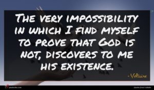 Voltaire quote : The very impossibility in ...