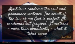 Jim Elliot quote : Most laws condemn the ...
