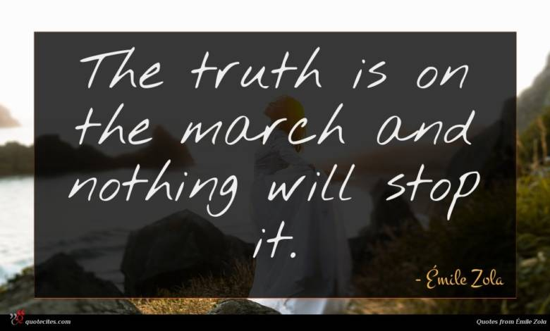 The truth is on the march and nothing will stop it.