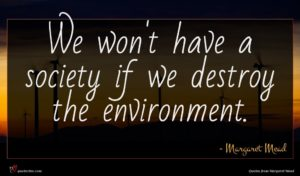 Margaret Mead quote : We won't have a ...