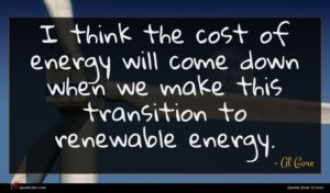 Al Gore quote : I think the cost ...