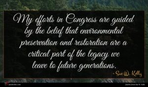 Sue W. Kelly quote : My efforts in Congress ...