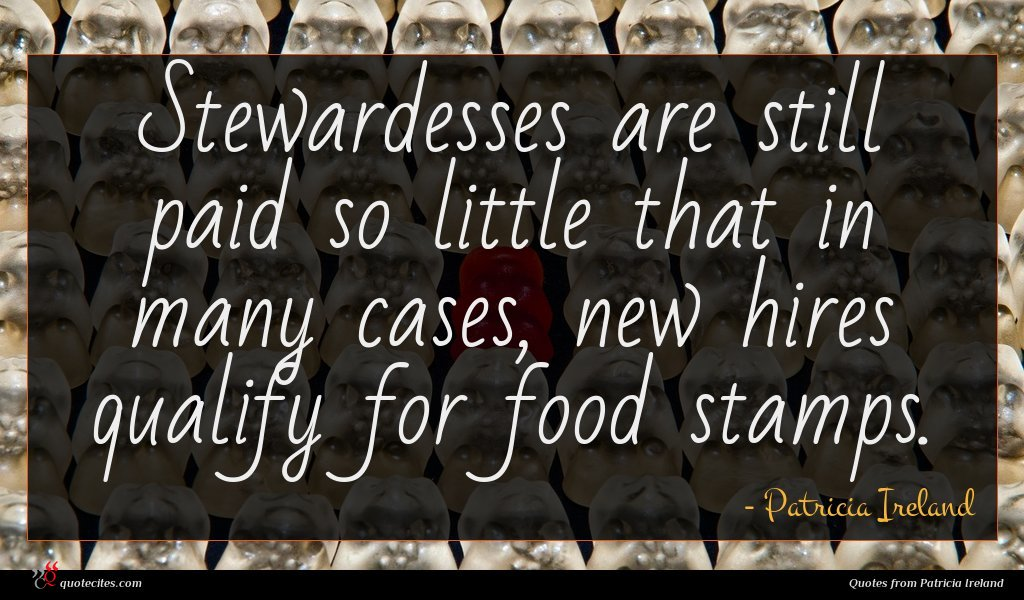 Stewardesses are still paid so little that in many cases, new hires qualify for food stamps.