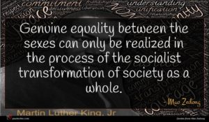 Mao Zedong quote : Genuine equality between the ...